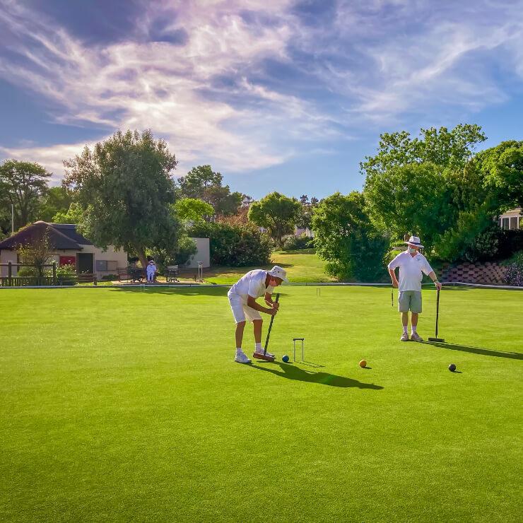 A croquet lawn & Pavilion